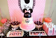 Minnie Mouse Party Ideas / Minnie Mouse party ideas for birthdays  --  Minnie Mouse cakes, decorations, party foods and favors. See more party ideas at CatchMyParty.com.