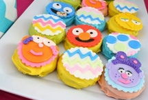 Sesame Street Party Ideas / Sesame Street party ideas for 1st birthdays  --  Elmo cakes, decorations, Cookie Monster party foods and favors. See more party ideas at CatchMyParty.com. / by Catch My Party