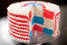 July 4th Party Ideas / Patriotic 4th of July party ideas  --  4th of July cakes, decorations, party foods and favors. See more party ideas at CatchMyParty.com. / by Catch My Party