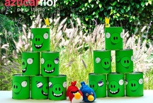 Angry Birds Party Ideas / Angry Birds party ideas for boy birthdays  --  Angry Birds cakes, decorations, party foods and favors. See more party ideas at CatchMyParty.com.