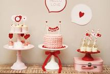 Valentine's Day Party Ideas / Valentine's Day party ideas -- Heart cakes, decorations, party foods and favors. See more party ideas at CatchMyParty.com. / by Catch My Party