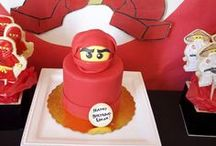 Ninjago Party Ideas / Ninjago party ideas for a boy birthday -- Ninjago cakes, decorations, party foods and favors. See more party ideas at CatchMyParty.com. / by Catch My Party