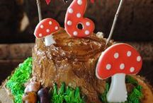Woodland Party Ideas / Woodland party ideas for a birthday or baby shower --  woodland cakes, fairy decorations, rustic party foods and favors. See more party ideas at CatchMyParty.com.