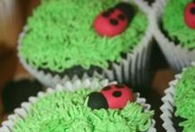 Ladybug Party Ideas / Ladybug party ideas for a girl birthday --  ladybug cakes, decorations, party foods and favors. See more party ideas at CatchMyParty.com.
