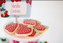 Strawberry Party Ideas / Strawberry party ideas for a girl birthday --  strawberry cakes, decorations, party foods and favors. See more party ideas at CatchMyParty.com.