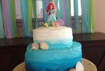 Mermaid Party Ideas / Mermaid party ideas for a girl birthday --  mermaid cakes, decorations, party foods and favors. See more party ideas at CatchMyParty.com.