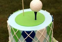 Golf Party Ideas / Golf party ideas for a boy birthday --  Golf cakes, decorations, party foods and favors. See more party ideas at CatchMyParty.com.