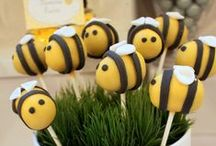 Bumble Bee Party Ideas / Bumble Bee party ideas for a baby shower or a birthday -- bumble bee cakes, decorations, party foods and favors. See more party ideas at CatchMyParty.com.