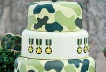 Military Party Ideas / Military party ideas for a boy birthday -- military cakes, decorations, military party foods and favors. See more party ideas at CatchMyParty.com.