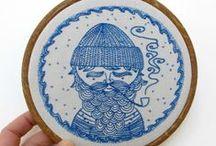 {embroidery, knittery, cross-stichery, &c} / by Hannah B.