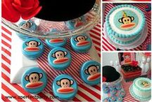 Paul Frank Party Ideas / Paul Frank party ideas for a baby shower or birthday -- Paul Frank monkey cakes, decorations, party foods and favors. See more party ideas at CatchMyParty.com.