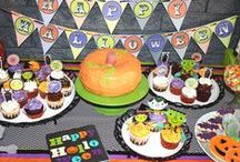 Halloween Dessert Tables / Amazing ideas for Halloween Dessert Tables with backdrops, delicious treats, cupcakes and cakes for your Halloween party!  See more party ideas at CatchMyParty.com. / by Catch My Party