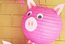 Pig Party Ideas / Pig party ideas for a boy birthday or girl birthday -- birthday cakes, pig party decorations, and pig party foods. See more party ideas at CatchMyParty.com