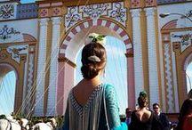 FERIAS ANDALUZAS. ANDALUSIAN FAIR / Ferias andaluzas: Feria de Abril, Feria de Málaga, El Rocio ... Carteles de Ferias ..