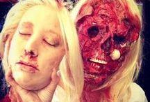 HALLOWEEN MAKE UP / #halloween #makeup ideas . Ideas de maquillaje para halloweeen o para fiestas de terror.