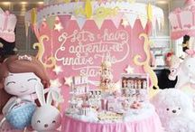 1st Birthday Girl Party Ideas / Party ideas for girl 1st birthdays including birthday cakes, party decorations, and party foods.
