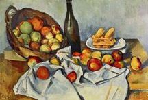 """Paul Cézanne / Paul Cézanne (French; 1839–1906) was a French artist and Post-Impressionist painter whose work laid the foundations of the transition from the 19th-century conception of artistic endeavour to a new and radically different world of art in the 20th century. Cézanne can be said to form the bridge between late 19th-century Impressionism and the early 20th century's new line of artistic enquiry, Cubism. Both Matisse and Picasso are said to have remarked that Cézanne """"is the father of us all."""" / by Alli McCulloch"""