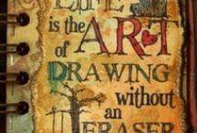 I Heart Art / Art journaling, mixed media art, painting, drawing / by Sarah Medina