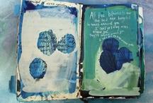 i love art journals / inspiring journal pages. like little spirit paths / by sylvanfairy