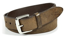 stylish belts for men / D & G Brown Distressed Leather Belt