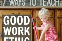 Cleaning With The Kids / Do you have a hard time getting the kids to pick up after themselves or help you clean the house? Here are some ideas to get them off the couch and helping around the house.   Pins & re-pins do not equal the endorsement of any product.
