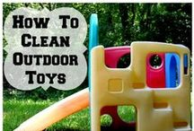 Outdoor Cleaning / Having guests over? Here are a few ideas to clean up outside and around the house. Pins & re-pins do not equal the endorsement of any product.