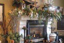 Majestic Mantels / Beautifully decorated  Christmas Mantels
