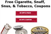 Free Tobacco Coupons / Many more links can be found on Annika's. #smoking #cigs #snuff #snus #free #coupons #tobacco #cigarette