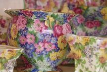 Chintz!! / In 1928 'Marguerite' the first Royal Winton Chintz pattern was launched and was an immediate success. These tightly grouped, highly detailed and vibrant all over floral patterns were to become a milestone in the company's reputation for versatility and beauty. Following an advertisement in the 'Potteries gazette' in 1929, Royal Winton became the established trade name for Grimwades Limited and has remained so through to the present day.