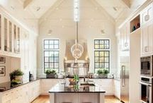 Kitchen / Oh, to have one of these beauties!  I love the clean lines with a touch of rustic. / by Lynn Allinson