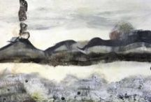 Landmarks_Encaustic/Mixed Media Paintings / Encaustic Paintings / by Helen DeRamus