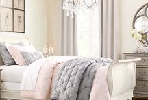 Pretty pale pink bedrooms
