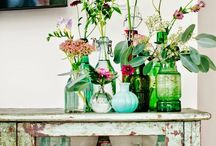 medicinal bottles and more dinner table decorations