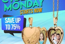 Cyber Monday & Cyber Week 2016 / #CyberMonday deals on all #photoengraved Personalized Jewelry Gift Ideas. Perfect for family, friends, everyone. Our Photo Engraved  #Lockets, #Necklaces, #Bracelets , #Keychains can be customized with a special photo  and a sentimental engrave message of your choice. Available in Sterling Silver, Yellow& White Gold, and Rose Gold.