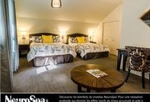 Rooms - Chambres / We offer 45 different rooms, out of 5 categories from economic to luxury, and spread throughout 7 pavilions / Nos 45 chambres, toutes différentes, sont réparties dans 7 pavillons. 5 catégories, de économique à luxueuses. / by Spa Eastman