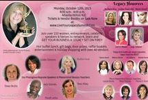 2015 - Live Your Legacy Summit ATLANTA / Join 150+ entrepreneurs & celebrity speakers on October 12th. Learn strategic action plans to redirect your life & business in order to live your best legacy! Revealing workshops & activities will open your eyes to how much greater your life can be with more purpose, more time and more clarity.  GET IN THIS BALLROOM AND NETWORK WITH PEOPLE WHO CAN TAKE YOU TO AMAZING NEW HEIGHTS. We want to meet YOU!! Get tickets and vendor booths while space is available at WWW.LiveYourLegacySummit.com