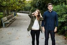 Engagement Shoot Outfit Inspo / Wardrobe inspiration for couples to wear to a photo shoot.