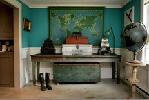 [ Remodel ] Backroom Project / Still trying to figure out how to decorate our back room that we use as a dining room. Teal walls, white trim and ceiling.  / by Jennifer Walker