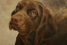 Dog Portraits / Paintings of dogs by Robert Perkins