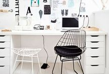 for workspaces / : studios : studies : home offices : eclectic rooms : organised spaces : creative living : / by Heather Young