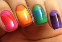 * Gradient/Ombre Nail Art Design Ideas / Looking for a lot of Simple Tutorials for nail designs?  If you try one of these designs, please share by posting your photo on my Facebook fanpage www.facebook.com/MyBlissKiss / by Bliss Kiss