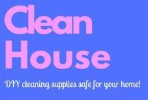 "Clean House / DIY cleaning supplies. Lots of ""crunchy"" ideas to keep chemicals out of your home and away from your kids"