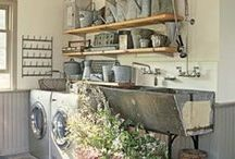Laundry Rooms / Laundry room designs and storage / by Janeen Bacal