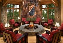 Fireplaces / Fireplaces indoors and outside. These are not firepits. / by Janeen Bacal