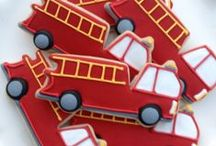 Evan's 3rd Birthday - Fire Truck Theme / Fire truck / fire station themed boy birthday party / by Kristin Gerber