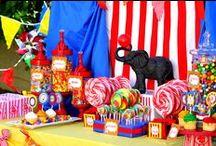 Festinha Circo / Decoração de festa infantil, ideias.