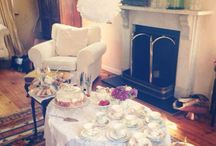 Vintage Hen Party Tea / Gorgeous homemade cakes and pretty vintage china brought to you - our hen party tea is the perfect afternoon treat.