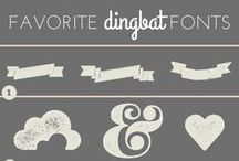 Free Fonts Dingbats and More / Fonts, Dingbats, how to chalkboard art etc.