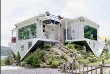 Modern Architecture / modern illustration of a balcony