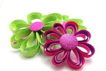 Hair Accessory Tutorials / How to make #hair accessories like #hair bows, headbands and hair flower clips